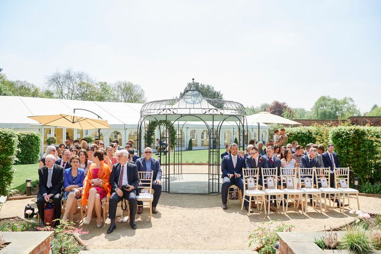 Outdoor Wedding Ceremony At The Walled Garden Nottingham