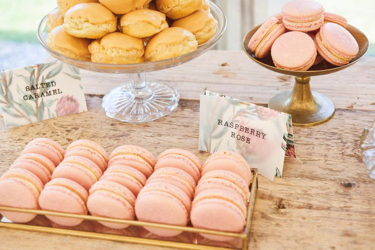 Pastel Coloured Macarons For Wedding Guests