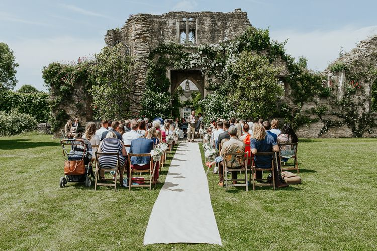 Outdoor Wedding Ceremony in The Beautiful  Gardens of Euridge Manor (The Lost Orangery)