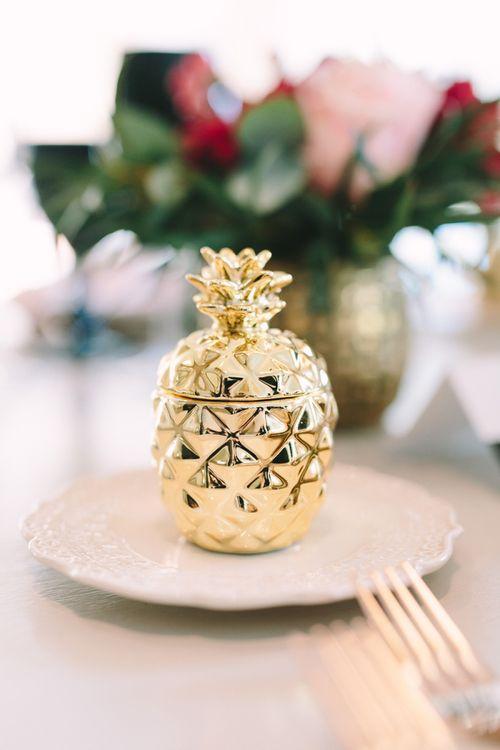 Gold Pineapple Trinket