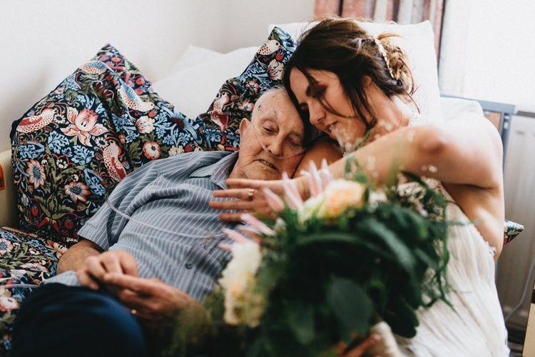 Visiting Grandad On Wedding Day // Image By Jason Williams Photography