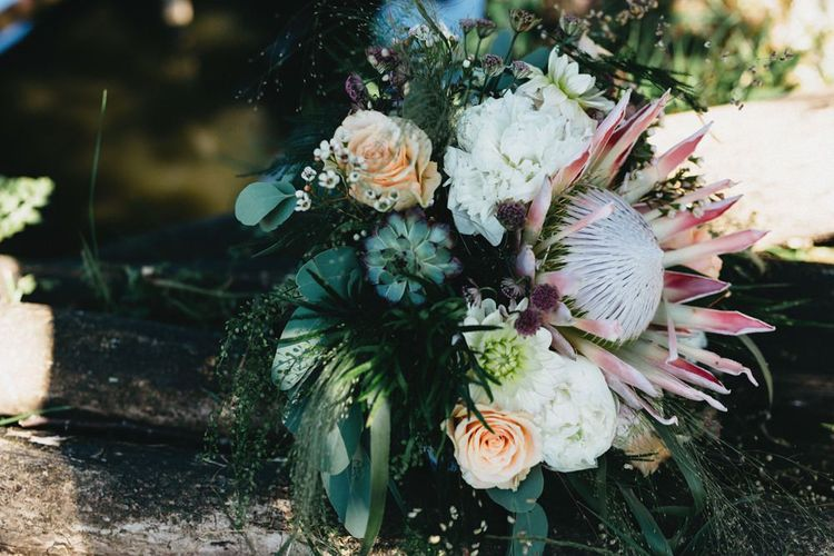 Protea Wedding Bouquet // Image By Jason Williams Photography