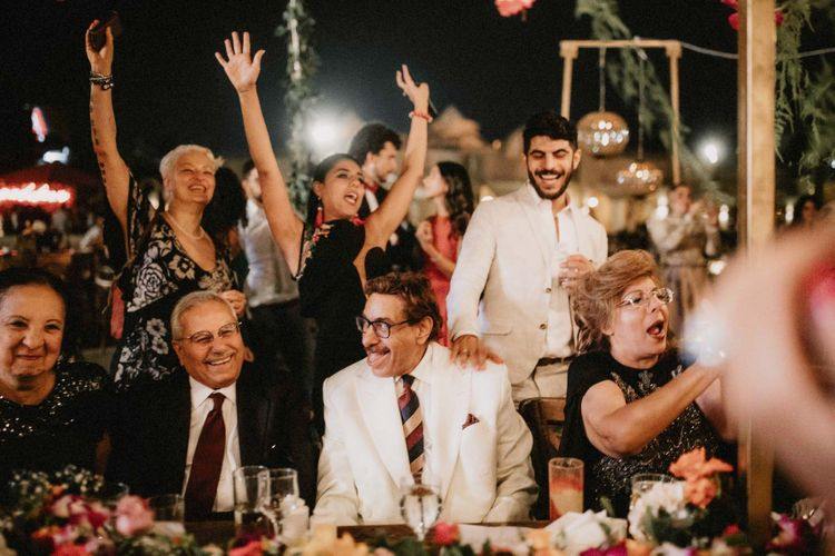 Wedding guests enjoy entertainment at Egypt wedding