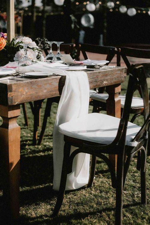 Wedding place setting at Egypt wedding