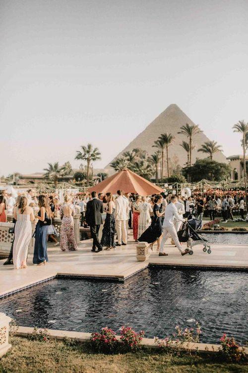 Beautiful scenery at Egypt wedding