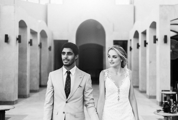 Bride and groom at Egypt wedding