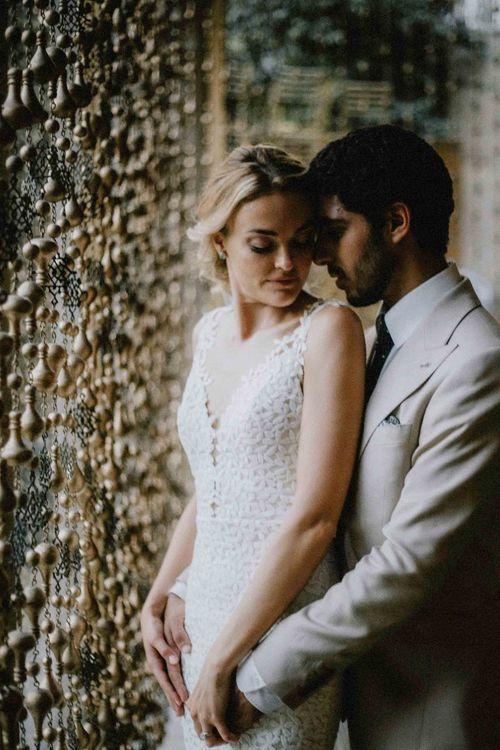 Bride in Laudae Wedding dress