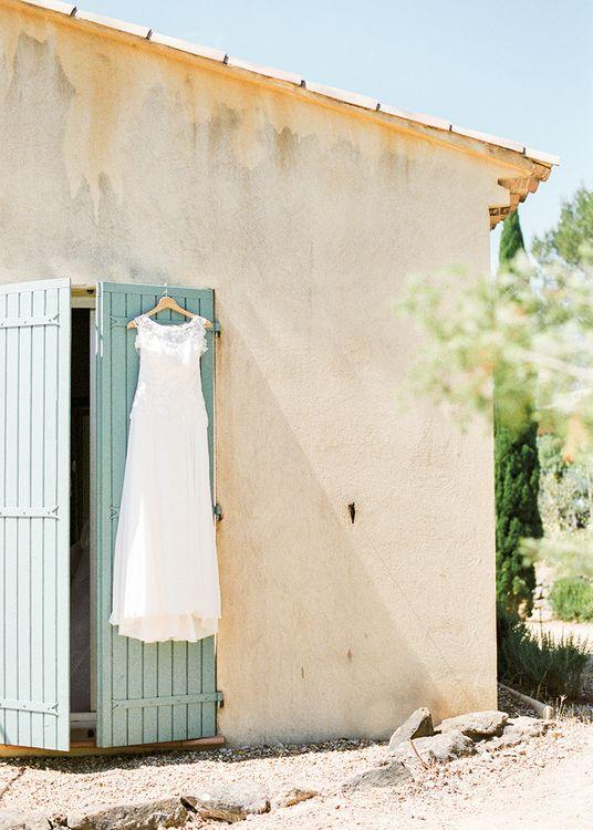 Lace Wedding Dress   Outdoor Wedding at Commanderie de Peyrassol, Provence, France Styled by La Chuchoteuse   Lace Bridal Gown   Black Tie Suit   Rustic Stretch Tent Reception   Raisa Zwart Photography