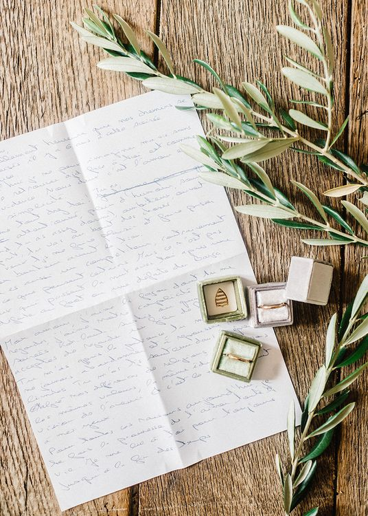 Ring Boxes   Outdoor Wedding at Commanderie de Peyrassol, Provence, France Styled by La Chuchoteuse   Lace Bridal Gown   Black Tie Suit   Rustic Stretch Tent Reception   Raisa Zwart Photography