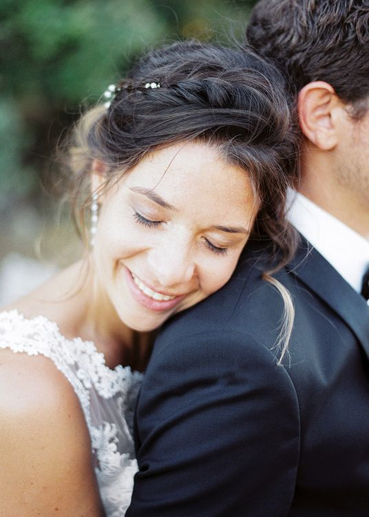 Beautiful Bride with Natural Makeup   Outdoor Wedding at Commanderie de Peyrassol, Provence, France Styled by La Chuchoteuse   Lace Bridal Gown   Black Tie Suit   Rustic Stretch Tent Reception   Raisa Zwart Photography
