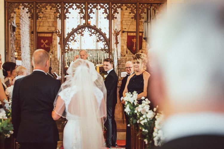Mikaella Wedding Dress // Loose Up Do For Bride // Longbourn Barn Wedding // The Vedrines Photography