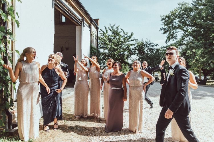 Image By The Vedrines // Bridesmaids In No.1 By Jenny Packham Dresses
