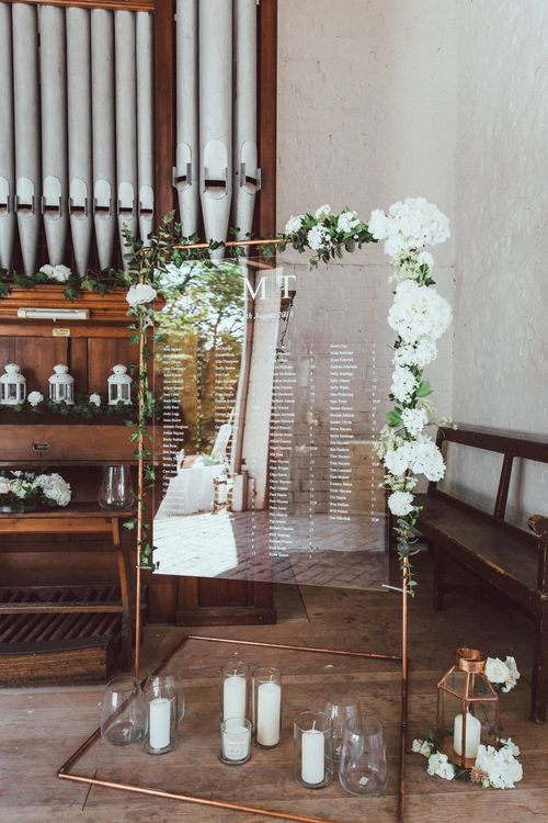 Acrylic Wedding Sign // Longbourn Estate Barn // Images By The Vedrines