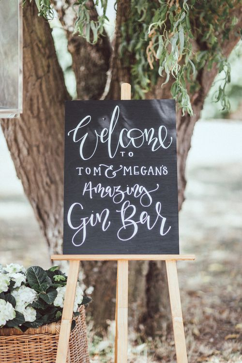 Chalkboard Sign For Wedding // Images By The Vedrines