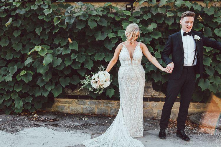 Galia Lahav Mermaid Style Wedding Dress // Longbourn Estate Barn // Images By The Vedrines // Bridesmaids In No.1 By Jenny Packham Dresses