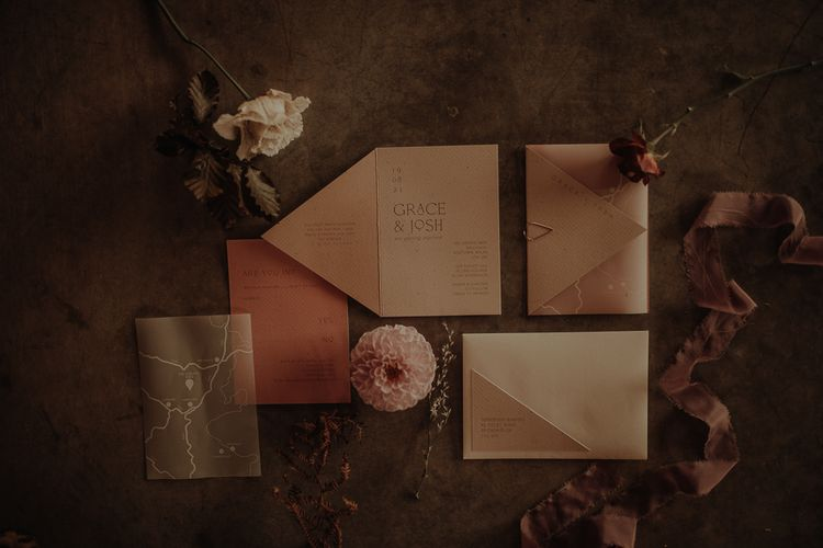 Wedding stationery suite by Chloe Creative