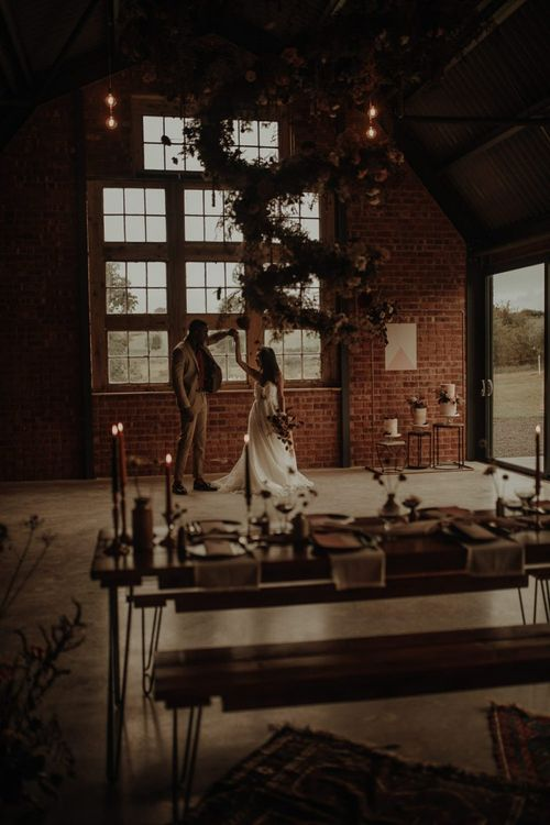 The Giraffe Shed wedding venue with huge windows and open space