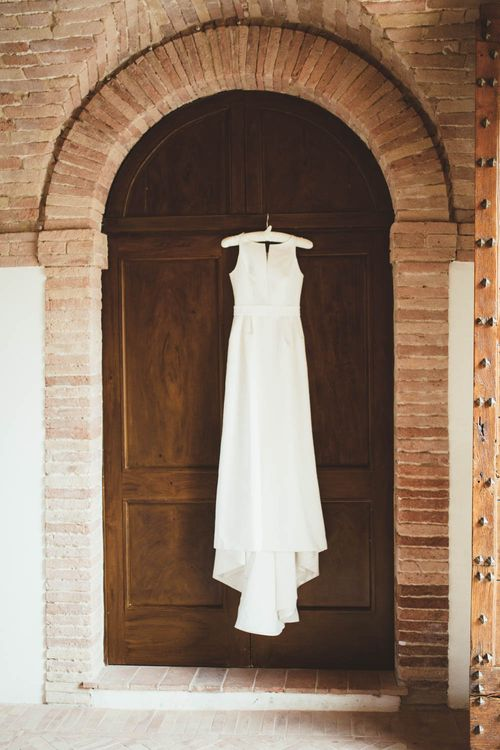 Jesus Piero Wedding Dress | Mint Green & White Outdoor Ceremony in a Abbazia Montelabate Monastery Cloister & Elegant Reception at Castello Ramazzao Castle, Italy | Maryanne Weddings Photography