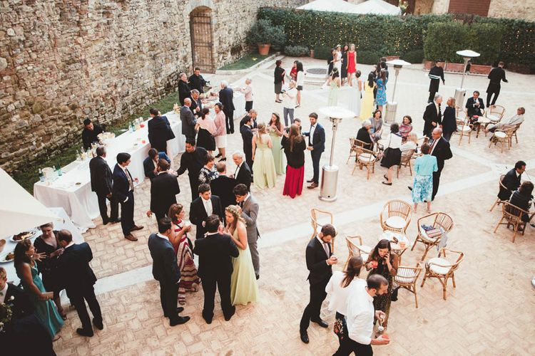 Mint Green & White Outdoor Ceremony in a Abbazia Montelabate Monastery Cloister & Elegant Reception at Castello Ramazzao Castle, Italy | Maryanne Weddings Photography