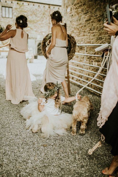 Show Me Your Mumu Bridesmaids Dresses // Glasshouse Wedding At Anran In Devon // Image By Paige Grace Photography // Film By The Wild Bride