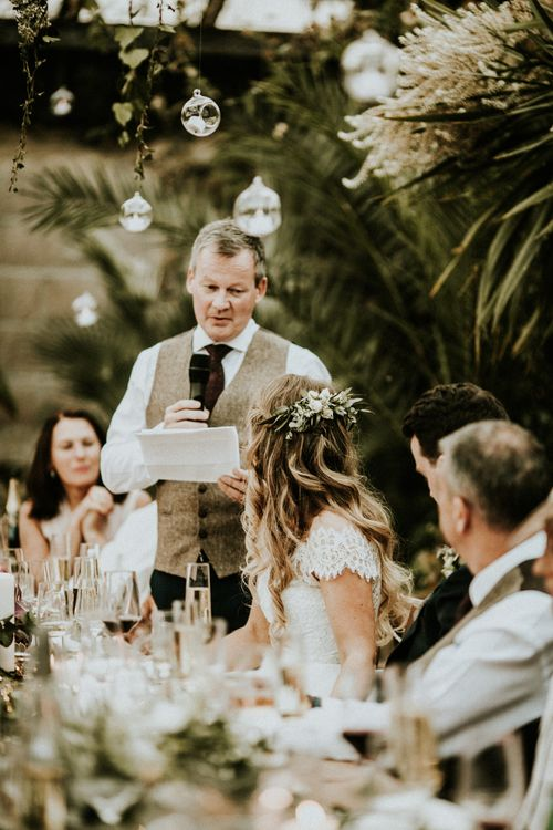 Wedding Speeches // Glasshouse Wedding At Anran In Devon // Image By Paige Grace Photography // Film By The Wild Bride