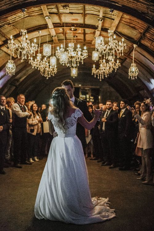 First Dance // Glasshouse Wedding At Anran In Devon // Image By Paige Grace Photography // Film By The Wild Bride