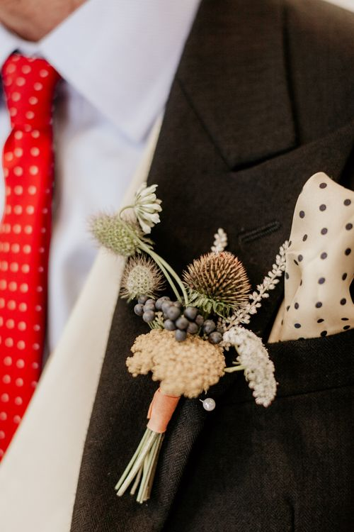 Rustic Buttonhole // Image By Green Antlers Photography