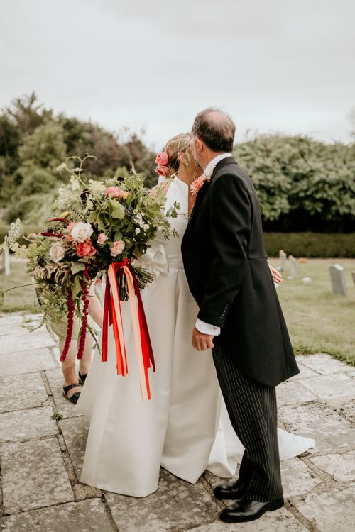 Bride In Jesus Peiro Dress // Image By Green Antlers Photography