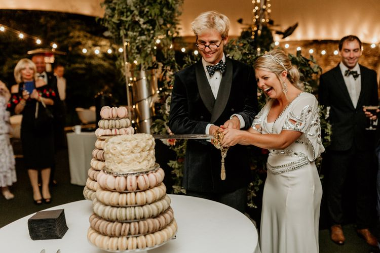 Macaron Wedding Cake // Image By Green Antlers Photography