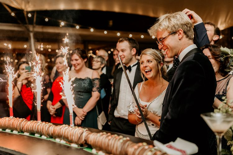 Caterpillar Cake For Wedding // Image By Green Antlers Photography