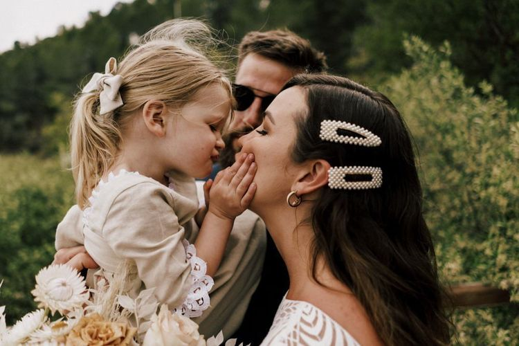Family Wedding with Bridal Hair Clips