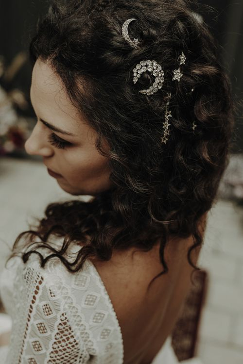 Embellished Stars and Moon Bridal Hair Accessories