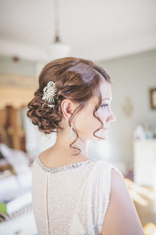 Bride with Curly Hair Updo