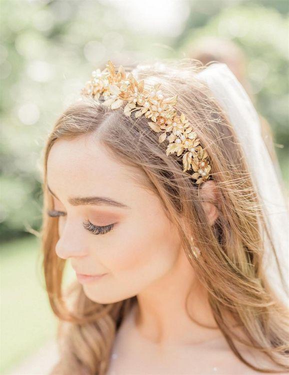 Gold Botanical Headband