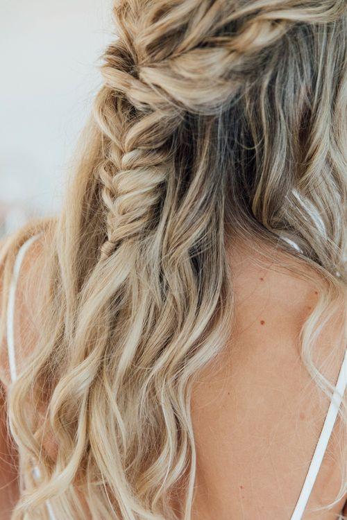 Braided Half Up Half Down Wedding Hairstyle | Charlotte Hair & Makeup | Charlotte Bryer-Ash Photography