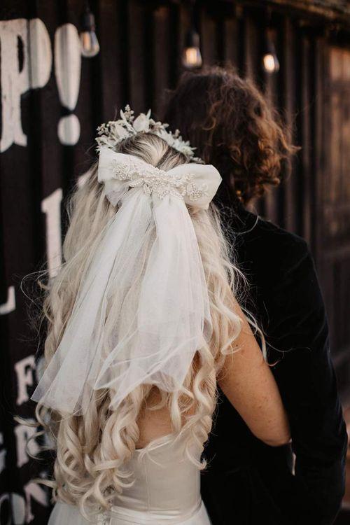 Bow wedding hair accessory