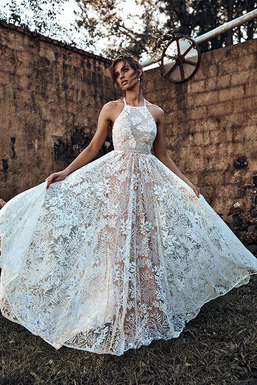Harri Gown By Grace Loves Lace // Halterneck Wedding Dress