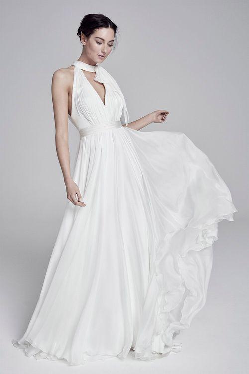 Elsa By Suzanne Neville // Halterneck Wedding Dress