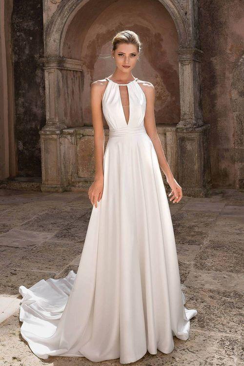 Halterneck Wedding Dress By Justin Alexander