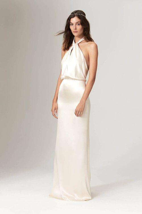 Halterneck Wedding Dress By Savannah Miller