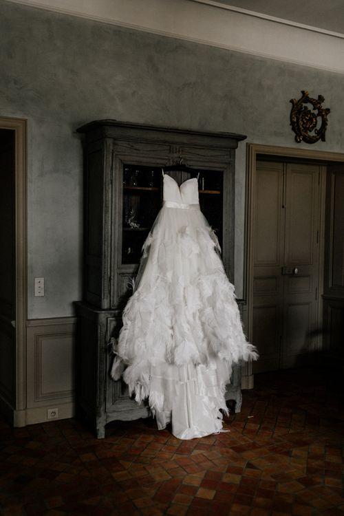 Stephanie Allin Ostrich Feather Wedding Dress