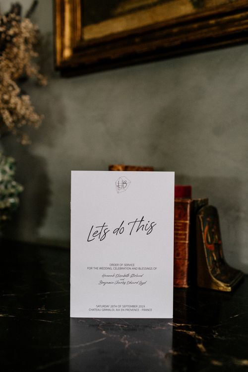 Contemporary Wedding Stationery with Lets Do This Typography