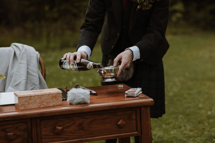 Outdoor Humanist Wedding Ceremony with Drink Ritual