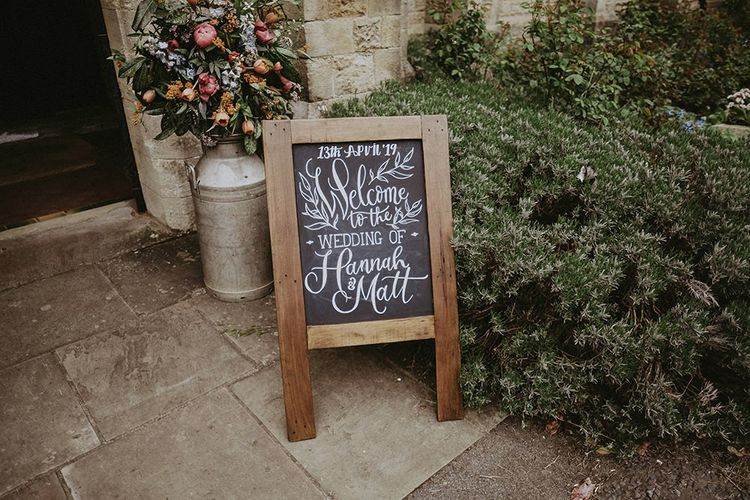 Chalkboard Wedding Welcome Sign