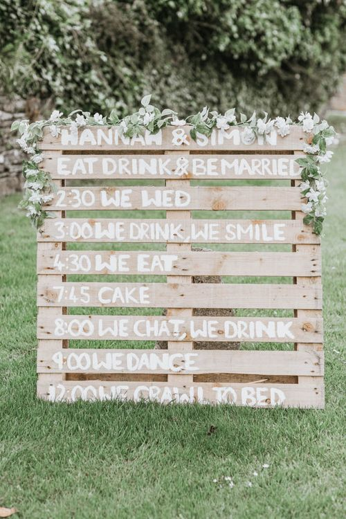 DIY Wooden Pallet Order of The Day Sign