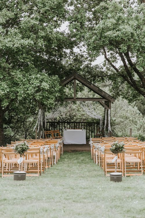 Outdoor Wedding Ceremony at The Green in Cornwall