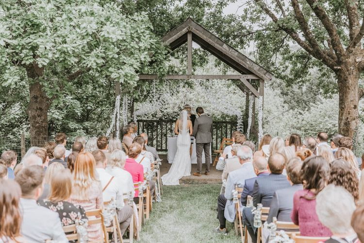 Outdoor Wedding Ceremony at The Green, Cornwall