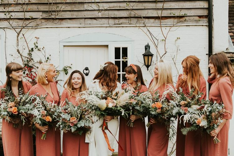 Bridesmaid jumpsuit for Autumnal boho wedding