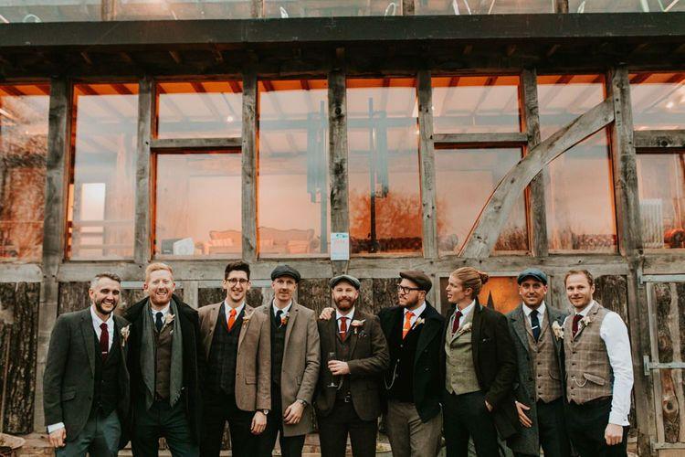 Groom with his groomsmen at Kent wedding venue