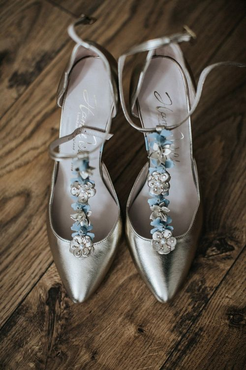 Harriet Wilde floral T-bar wedding shoes for wedding with multiway bridesmaid dresses